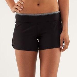 Lululemon black shorts with grey trim size 8